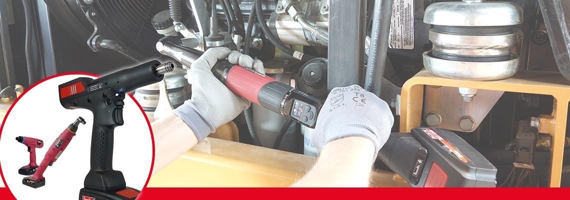 Fedezze fel az akkumulátoros szerelőszerszámok választékát: önálló, transzduktoros sarokfejes/pisztolymarkolatos akkumulátoros szerszám, akkumulátoros csavarbehajtók és ergonomikus, akkus, nyomatékhatárolós szerszámok
