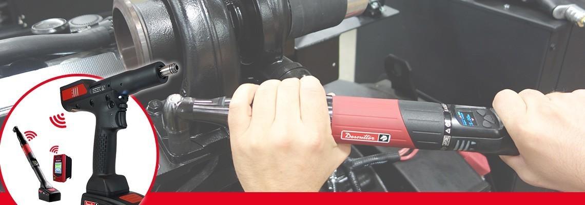 Ismerje meg a Desoutter Industrial Tools EABCom – EPBCom akkumulátoros csavarbehajtóit! Csatlakoztasson 4 transzduktoros akkumulátoros szerszámot egyetlen Vision vezérlőhöz a 100% -os nyomonkövethetőség érdekében.