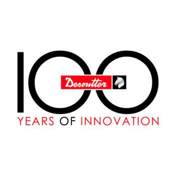 A Desoutter 100. évfordulójának logója